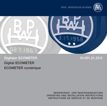 Digitaler ECOMETER 04.001.21.23.0 Digital ... - BPW Italia