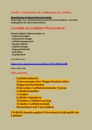 Luftfahrt: deutsch-englisch Handbuch Bordbuch uebersetzen