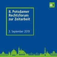 Tagungsmappe 8. Potsdamer iGZ-Rechtsforum