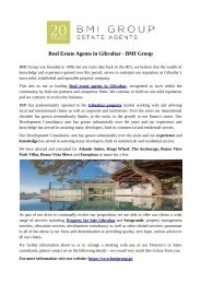Real Estate Agents in Gibraltar - BMI Group