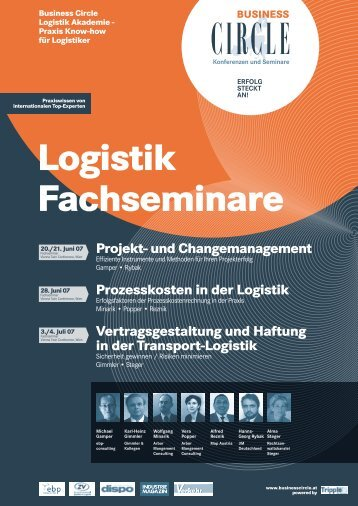 Projekt- und Changemanagement in der Logistik