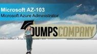 AZ-103 Exam Dumps Questions