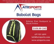 Buy Babolat Pure Backpack & Bags at Toronto, Mississauga