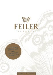 FEILER Kollektion Herbst 2019