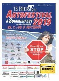 13. Bitburger Autofestival & Sommerfest 2019
