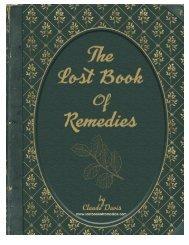 Claude Davis: The Lost Book of Remedies Ebook PDF Download