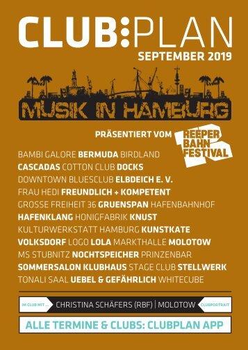 Clubplan Hamburg - September 2019