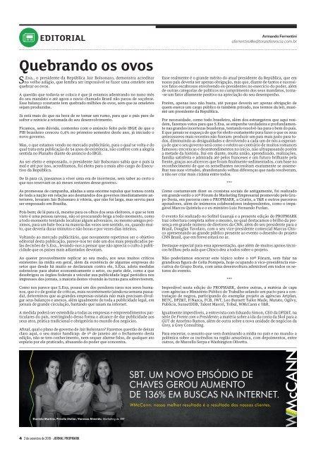 edição de 2 de setembro de 2019