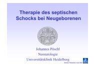 Therapie des septischen Schocks bei Neugeborenen