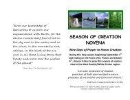 Revised Novena for Creation