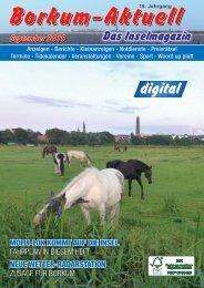 September 2019   Borkum-Aktuell - Das Inselmagazin