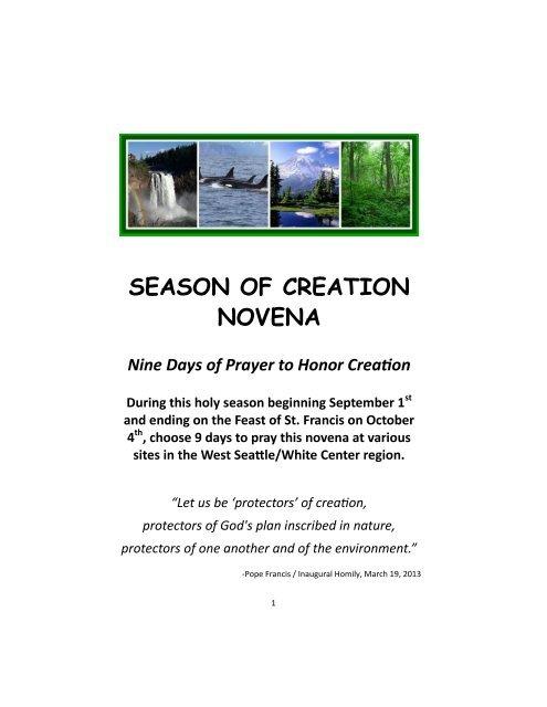 2019 Novena For Creation