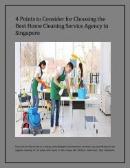Best Home Cleaning Service Agency in Singapore