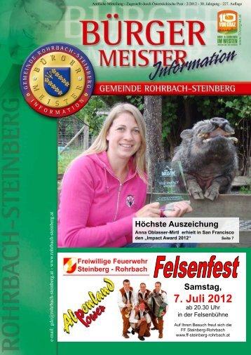 7. Juli 2012 - Rohrbach-Steinberg