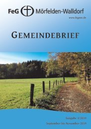 Gemeindebrief September - November 2019