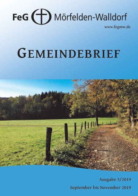 Gemeindebrief September - November 2019