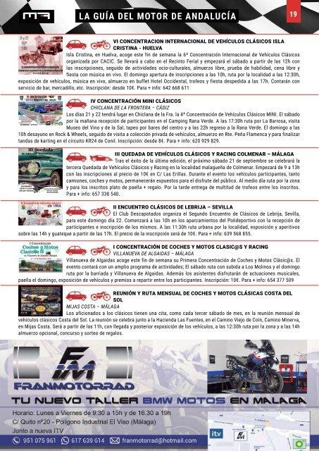 MOTOR ANDALUZ SEPTIEMBRE 2019