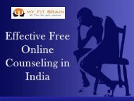 Effective Free Online Counseling in India