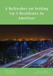 A Refresher on Setting Up A Residence in Amritsar
