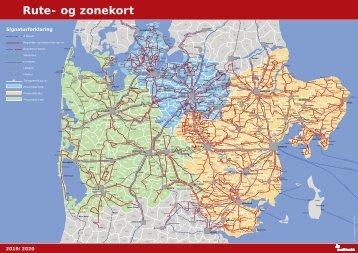 Rute og zonekort 2019/2020 | Midttrafik