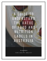 A Guide to Understand the Value of Food and Nutritions labels in Australia