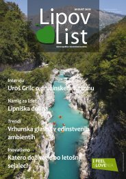 Revija Lipov list, avgust 2019