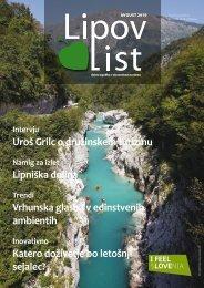 Revija Lipov list, avgust 2019