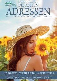 Die Besten Adressen - Ihr Magazin für die Stecknitz-Region August 2019