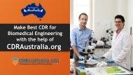 CDR For Biomedical Engineers Australia