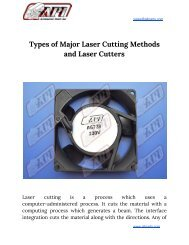 Types of Major Laser Cutting Methods and Laser Cutters