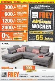 Interliving FREY - Jubiläums Prospekt + Möbel Einleger