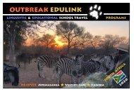 OUTBREAK EDULINK SCHOOL TRIP BROCHURE 2019 /2020