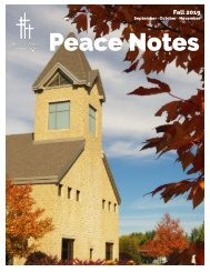 Peace Notes Fall 2019-Word of Peace Lutheran Church