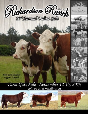 Richardson Ranch 10th Annual Online Sale