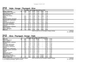 UDKAST * 212 Vejle - Vonge - Thyregod - Give | Composedato 14.11.2011 | Sydtrafik
