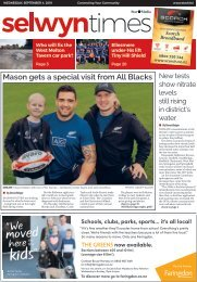 Selwyn Times: September 04, 2019