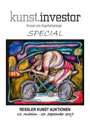 KUNSTINVESTOR 'special' - AUSGABE SEPTEMBER 2019