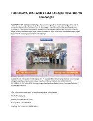 TERPERCAYA, WA +62 811-1564-141 Agen Travel Umroh Kembangan
