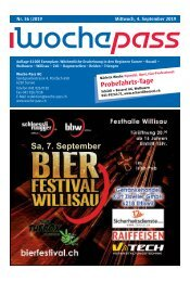 Woche-Pass | KW 36 | 4. September 2019