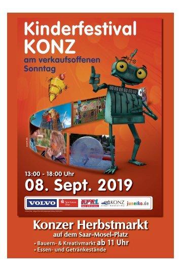 Kinderfestival Konz & Konzer Herbstmarkt