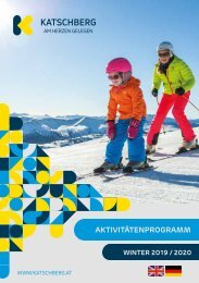 Aktivitätenfolder Winter 2019/20
