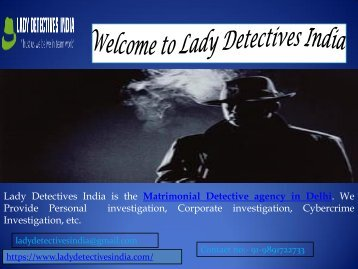 Prominent Detective Agency in Delhi