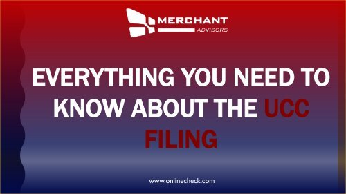 Everything you need to know about the ucc filing