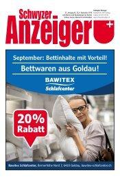 Schwyzer Anzeiger – Woche 36 – 6. September 2019
