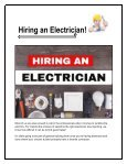 Hiring An Electrician - Page 2