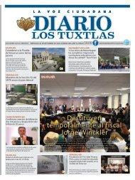 Edición de Diario Los Tuxtlas del día 04 de Septiembre de 2019