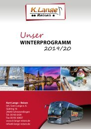 K. Lange Reisen Winterprogramm 2019/2020