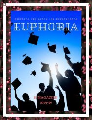 EUPHORIA E-MAGAZINE 2019-20