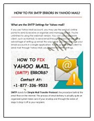 HOW TO FIX SMTP ERRORS IN YAHOO MAIL?