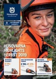 Husqvarna Herbstbroschüre 2019